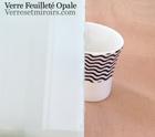verre feuillet opale blanc sur mesure devis prix et achat en ligne d lai 5 10 jours. Black Bedroom Furniture Sets. Home Design Ideas