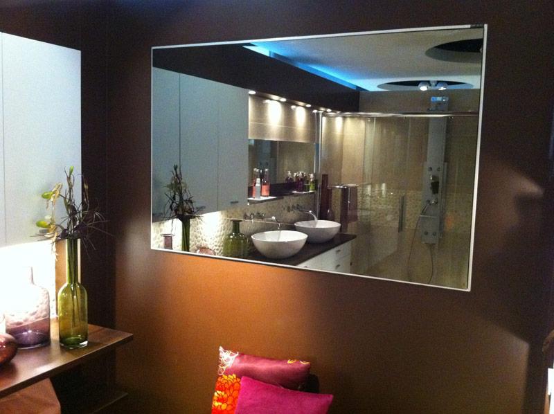 Miroir de salle de bain dimension sur mesure - Hauteur d un miroir de salle de bain ...
