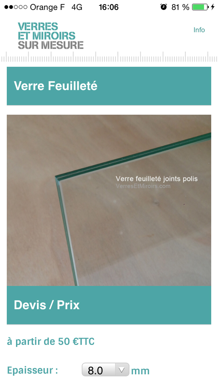 L 39 actualit verres et miroirs for Application miroir android
