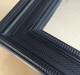 Miroir encadr sur mesure et cadre pour miroir - Encadrement bois pour miroir ...