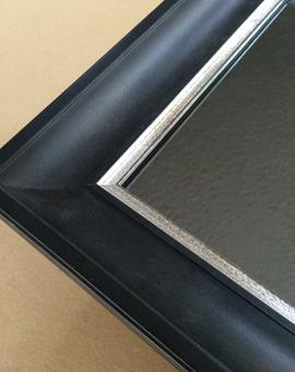 Miroir encadr sur mesure et cadre pour miroir for Miroir encadrement noir