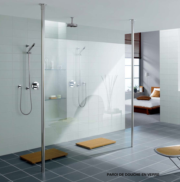 Verre sur mesure et miroir sur mesure paris r gion parisienne exp dition - Paroi douche en verre ...