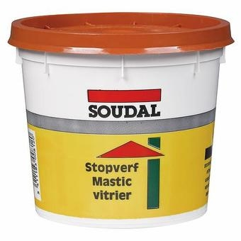 mastic vitrier 1kg couleur naturel ref 106751 soudal. Black Bedroom Furniture Sets. Home Design Ideas
