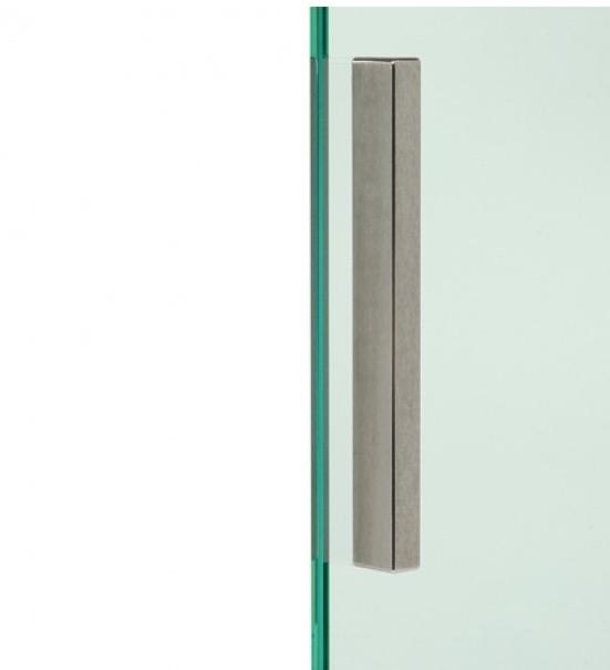poign e de porte en verre autocollante mat 150x12x8mm ref
