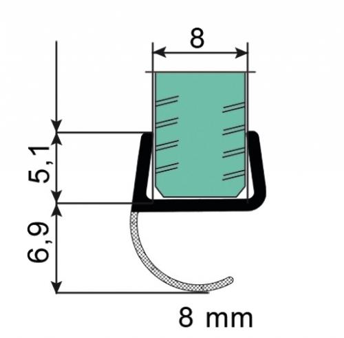 joint lat ral epaisseur 8 mm avec l vre d 39 tanch it ref bohle bo5213492 bohle. Black Bedroom Furniture Sets. Home Design Ideas