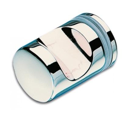 Bouton asymetrique laiton chrome brillant pour portes de for Bouton porte douche