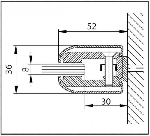 profil de serrage aluminium chrom pour paroi de douche 2000mm ref bohle bo5281046 bohle. Black Bedroom Furniture Sets. Home Design Ideas