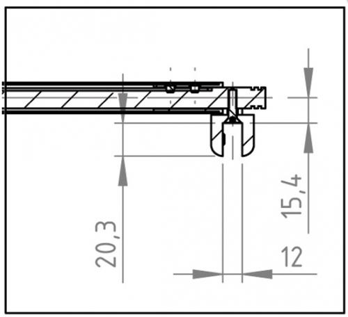 barre de stabilisation t lescopique 820 1000mm raidisseur basic round verre mur 90 ref. Black Bedroom Furniture Sets. Home Design Ideas