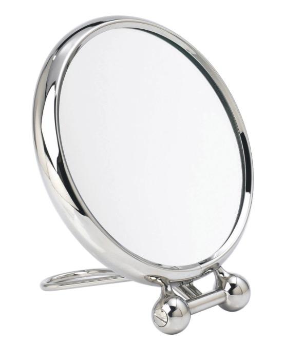 Miroir grossissant de voyage marquise 15cm nickel ref for Miroir brot paris
