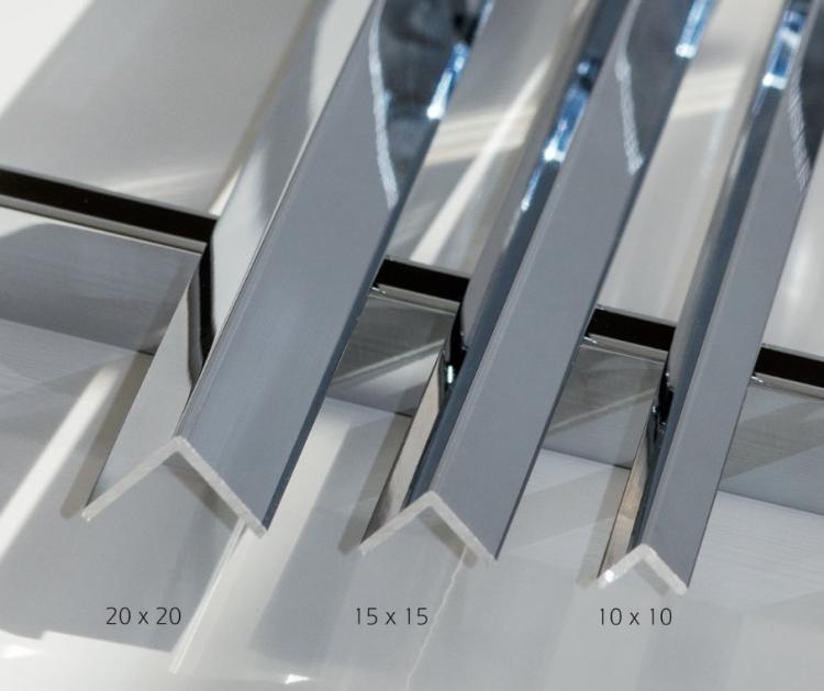 profil corni re l 10x10 chrom brillant 3m ref cpl profil corn10 clipper diffusion. Black Bedroom Furniture Sets. Home Design Ideas