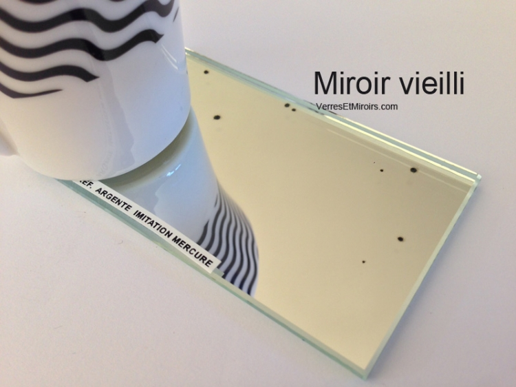 photo info Miroir vieilli imitation mercure 6mm 500x600mm AA