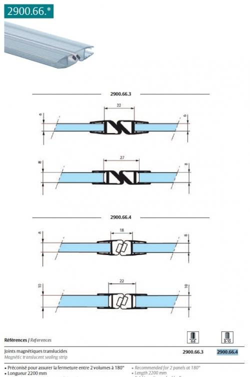 Catalogue stremler assaabloy quincaillerie pour le verre - Joint magnetique pour porte de douche ...