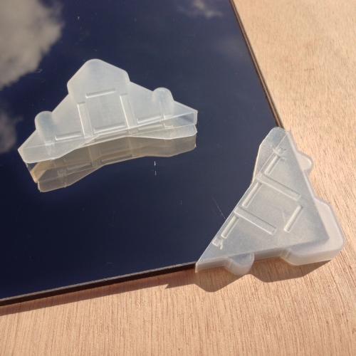 100 coins de protection pour verre ou miroir paisseur 6mm for Plaque de verre pour table