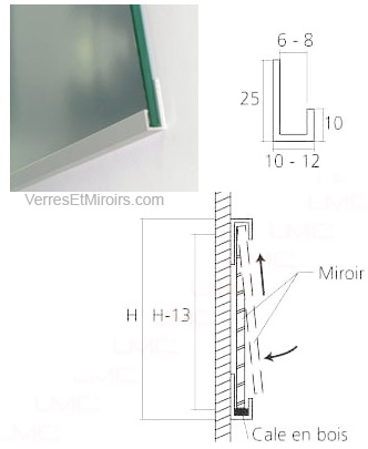 Profil fixation miroir