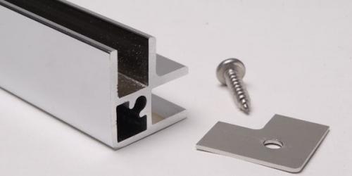 Profil angle u9 chrom brillant 2 3m pour verre 8mm ref - Aluminium poli miroir ...