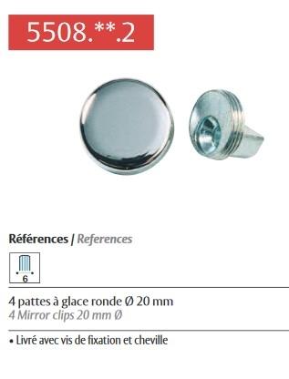 //38 mm Miroir Vis avec Dome Caps Laiton Poli ou finition chrome Cap environ 3.81 cm 1.5 in