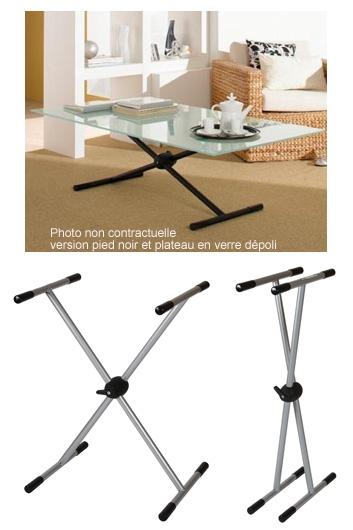 Table En Verre Modulable Plateau De Verre 60x120cm Verre 10mm