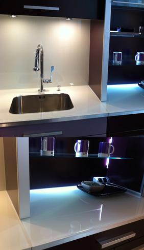 plan de travail en verre laqu. Black Bedroom Furniture Sets. Home Design Ideas